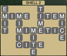 Wordscapes Coast Shell 2 - Level 2018 Answers