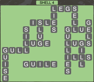 Wordscapes Coast Shell 4 - Level 2020 Answers