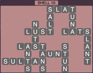 Wordscapes Coast Shell 10 - Level 2026 Answers