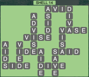 Wordscapes Coast Shell 14 - Level 2030 Answers