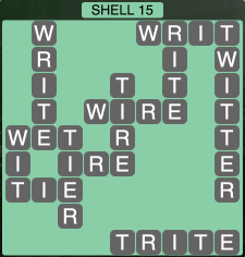 Wordscapes Coast Shell 15 - Level 2031 Answers