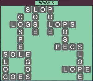 Wordscapes Coast Wash 5 - Level 2037 Answers