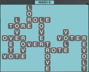 Wordscapes Coast Wash 6 - Level 2038 Answers