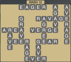 Wordscapes Coast Wash 12 - Level 2044 Answers