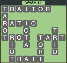 Wordscapes Coast Wash 14 - Level 2046 Answers