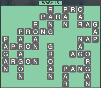 Wordscapes Coast Wash 15 - Level 2047 Answers