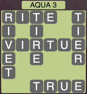 Wordscapes Coast Aqua 3 - Level 2051 Answers