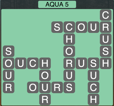 Wordscapes Coast Aqua 5 - Level 2053 Answers