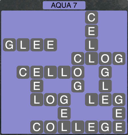Wordscapes Coast Aqua 7 - Level 2055 Answers