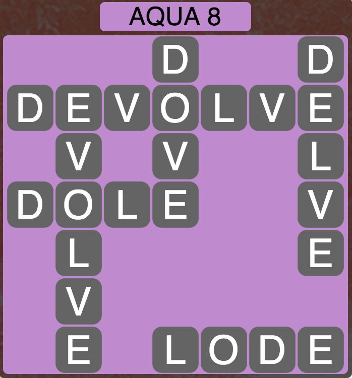 Wordscapes Coast Aqua 8 - Level 2056 Answers