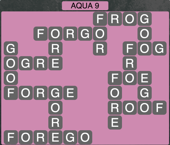 Wordscapes Coast Aqua 9 - Level 2057 Answers