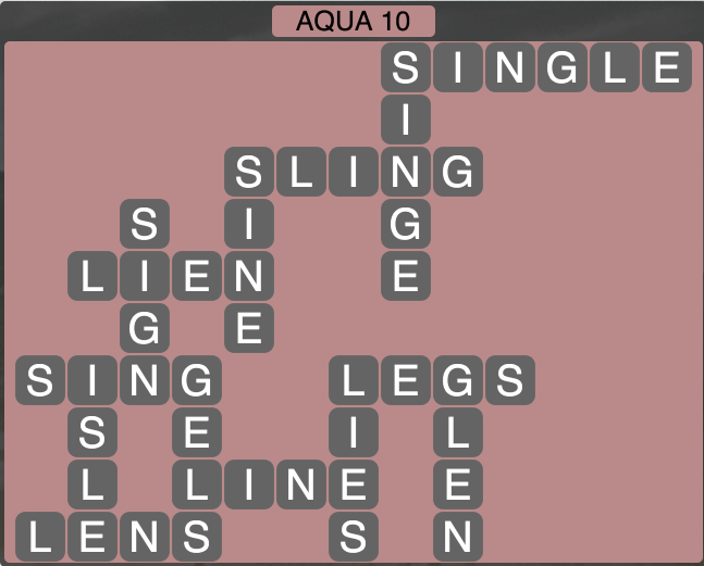 Wordscapes Coast Aqua 10 - Level 2058 Answers