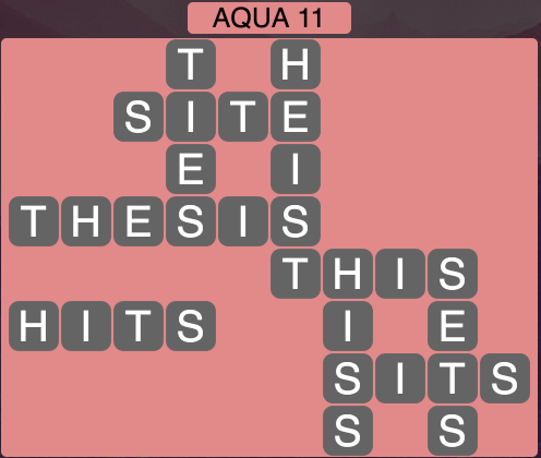 Wordscapes Coast Aqua 11 - Level 2059 Answers