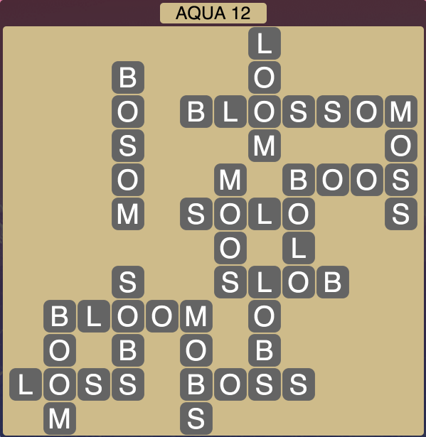 Wordscapes Coast Aqua 12 - Level 2060 Answers
