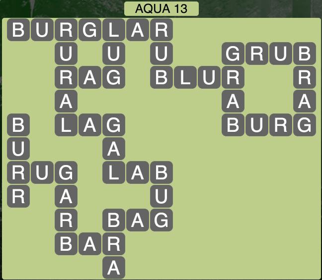 Wordscapes Coast Aqua 13 - Level 2061 Answers