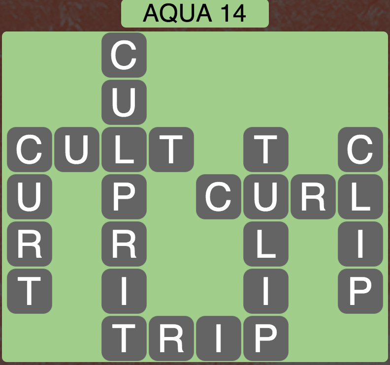 Wordscapes Coast Aqua 14 - Level 2062 Answers