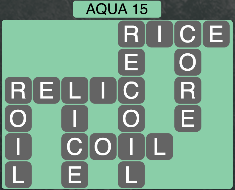 Wordscapes Coast Aqua 15 - Level 2063 Answers