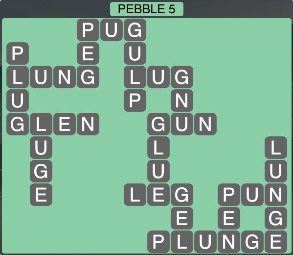 Wordscapes Coast Pebble 5 - Level 2069 Answers