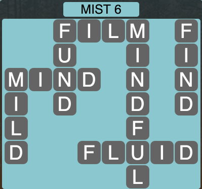Wordscapes Twilight Mist 6 - Level 2086 Answers