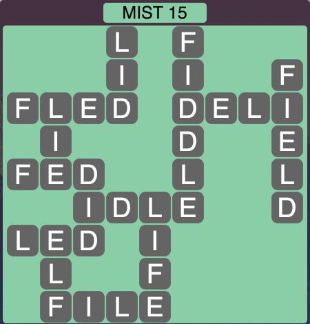 Wordscapes Twilight Mist 15 - Level 2095 Answers