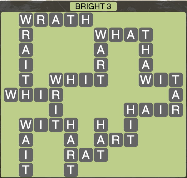 Wordscapes Twilight Bright 3 - Level 2099 Answers
