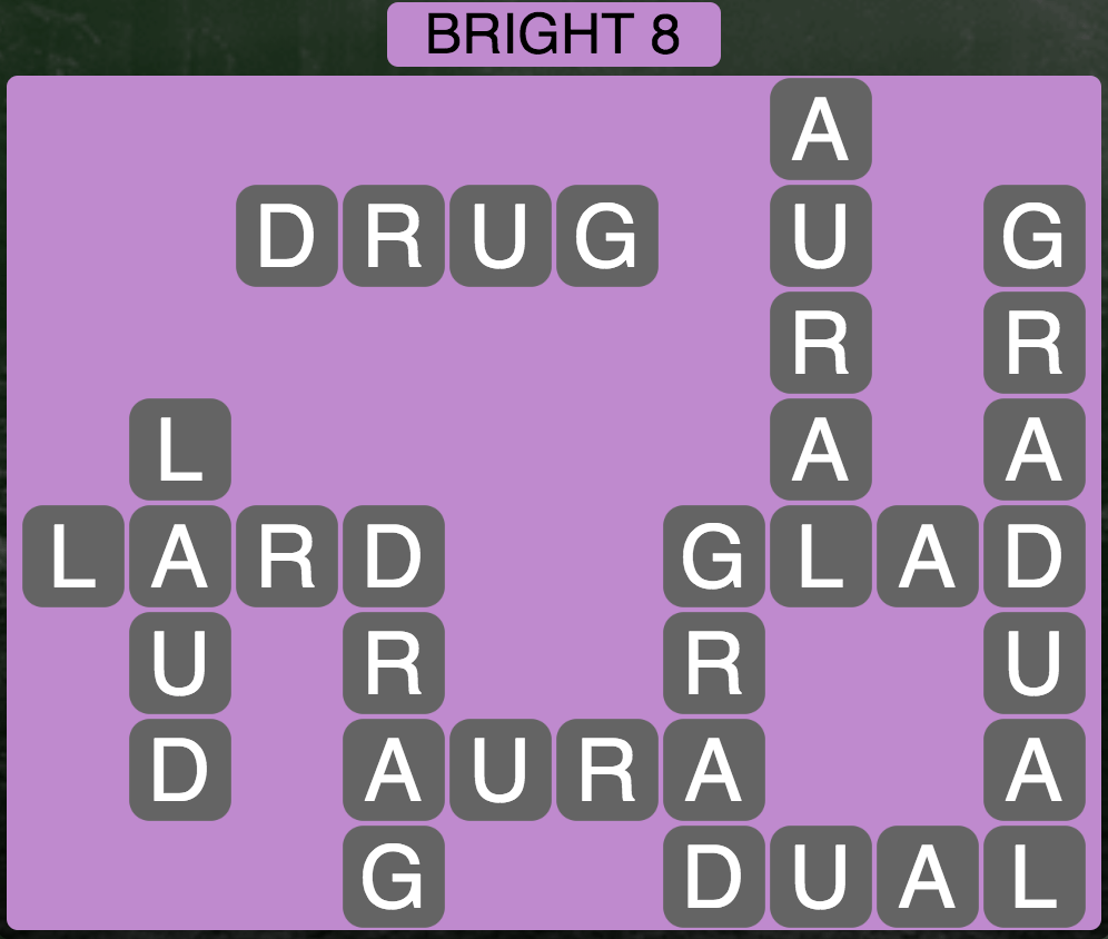 Wordscapes Twilight Bright 8 - Level 2104 Answers