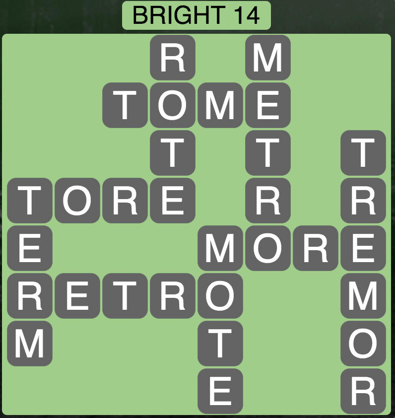 Wordscapes Twilight Bright 14 - Level 2110 Answers