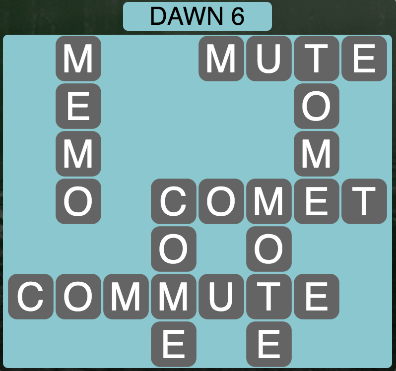 Wordscapes Twilight Dawn 6 - Level 2118 Answers