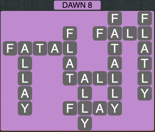 Wordscapes Twilight Dawn 8 - Level 2120 Answers