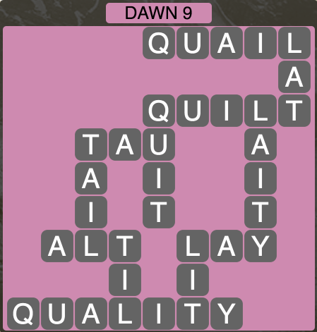Wordscapes Twilight Dawn 9 - Level 2121 Answers