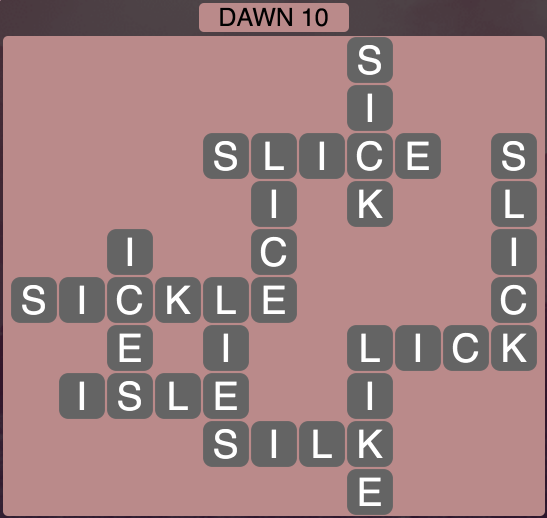 Wordscapes Twilight Dawn 10 - Level 2122 Answers