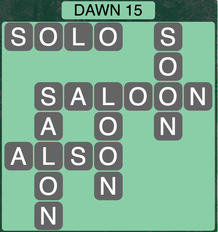 Wordscapes Twilight Dawn 15- Level 2127 Answers