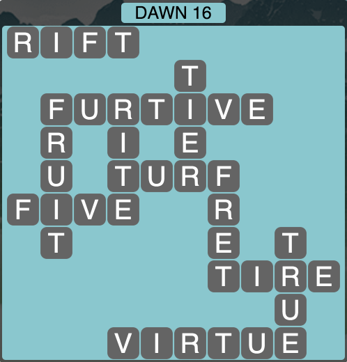 Wordscapes Twilight Dawn 16- Level 2128 Answers