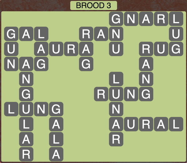Wordscapes Twilight Brood 3 - Level 2131 Answers
