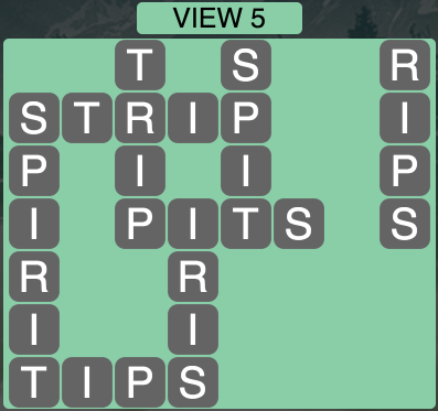 Wordscapes Twilight View 5 - Level 2149 Answers
