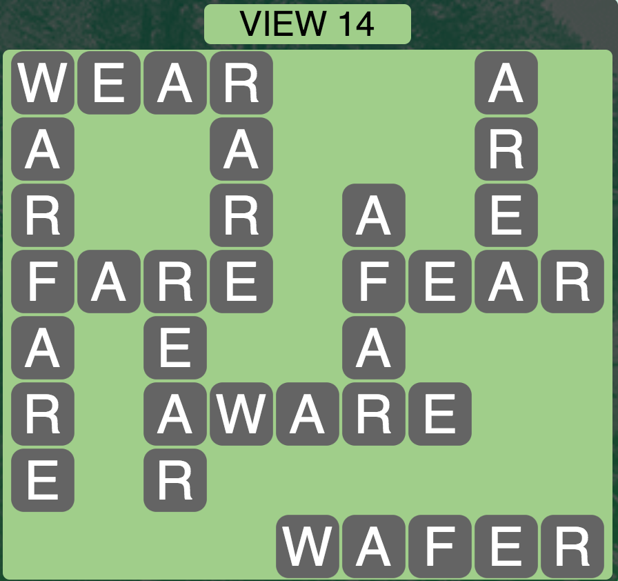 Wordscapes Twilight View 14 - Level 2158 Answers