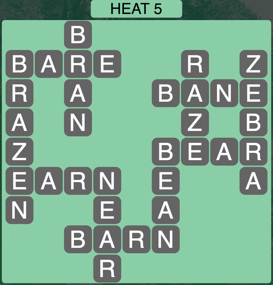 Wordscapes West Heat 5 - Level 3925 Answers