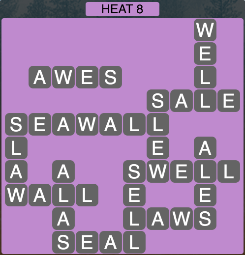 Wordscapes West Heat 8 - Level 3928 Answers