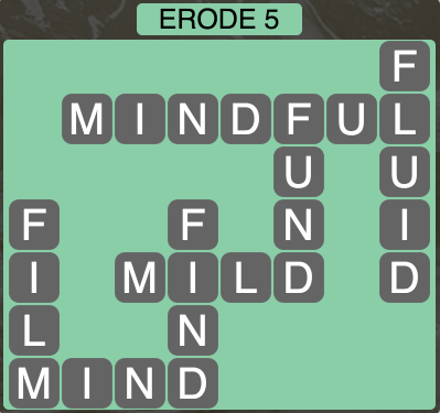 Wordscapes West Erode 5 - Level 3941 Answers