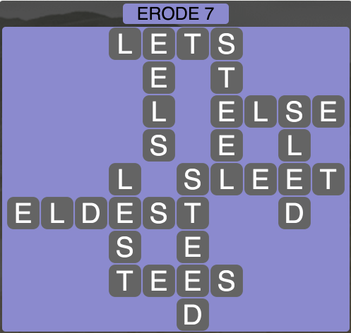 Wordscapes West Erode 7 - Level 3943 Answers