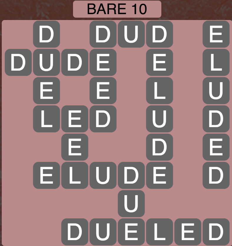 Wordscapes West Bare 10 - Level 3962 Answers