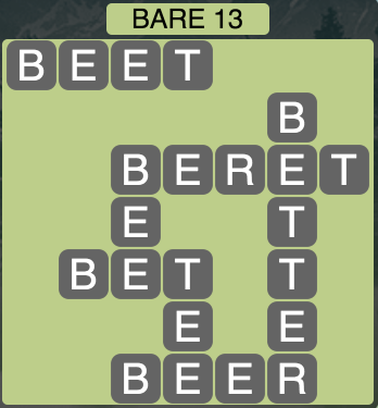 Wordscapes West Bare 13 - Level 3965 Answers