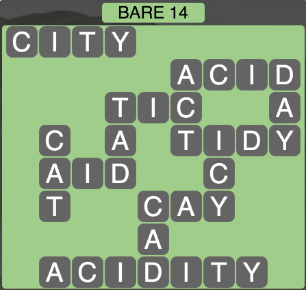 Wordscapes West Bare 14 - Level 3966 Answers