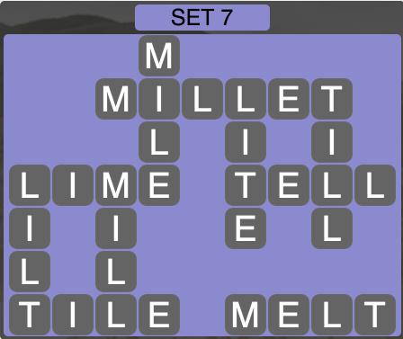 Wordscapes West Set 7 - Level 3975 Answers