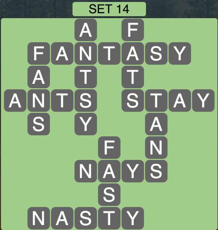 Wordscapes West Set 14 - Level 3982 Answers