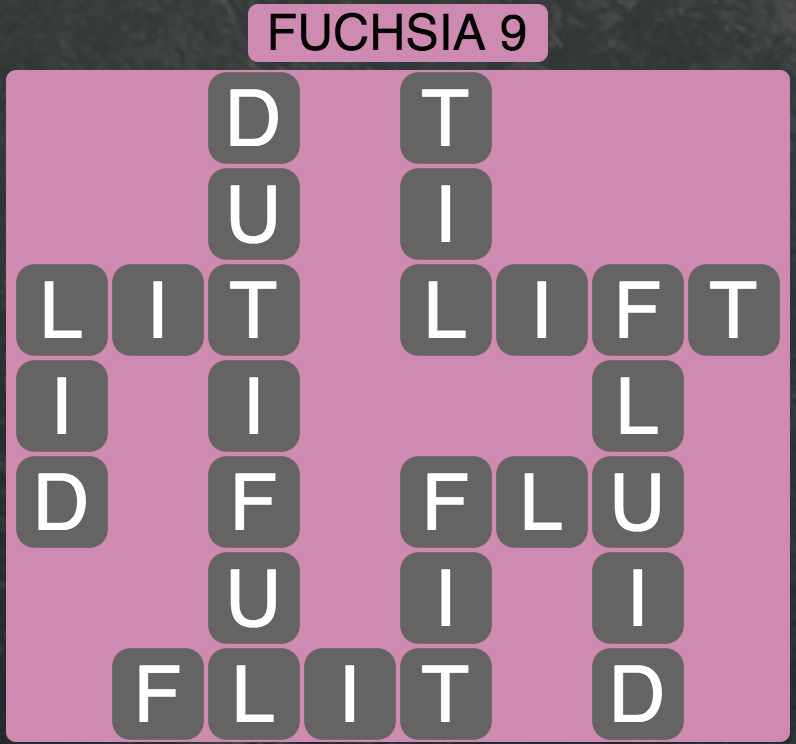 Wordscapes West Fuchsia 9 - Level 3993 Answers