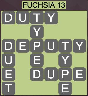 Wordscapes West Fuchsia 13 - Level 3997 Answers