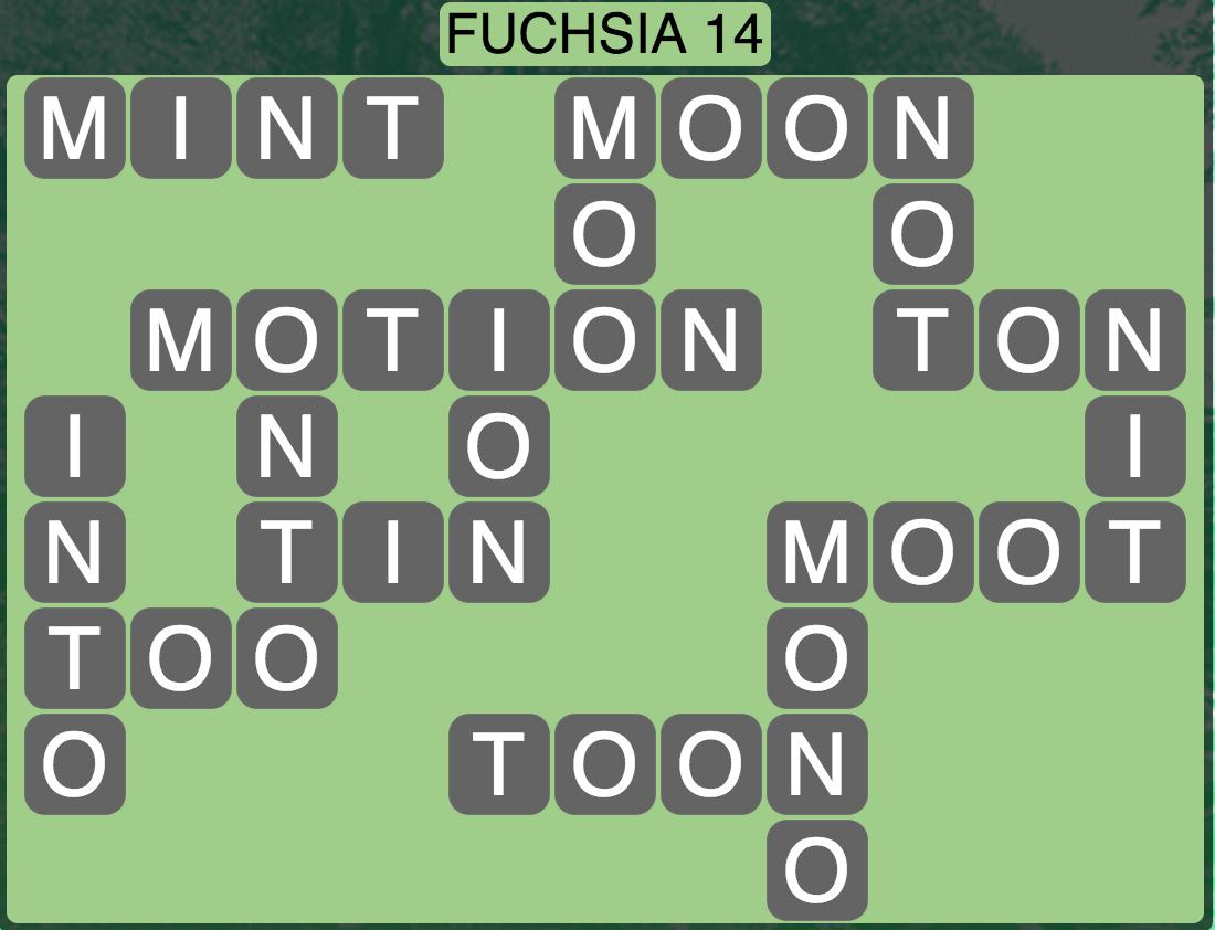 Wordscapes West Fuchsia 14 - Level 3998 Answers
