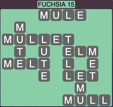 Wordscapes West Fuchsia 15 - Level 3999 Answers