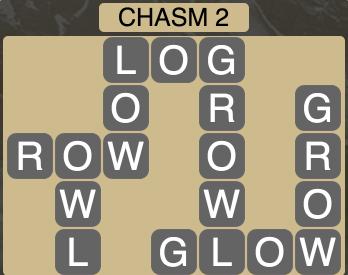 Wordscapes Ravine Chasm 2 - Level 4190 Answers